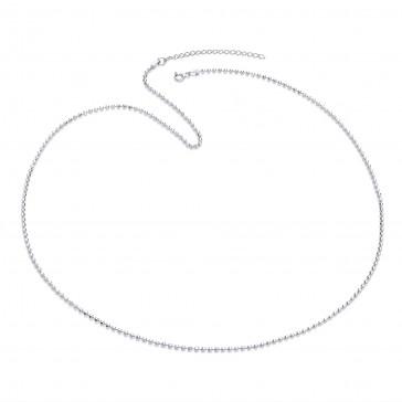 """RP Silver Chain Diamond-Cut Bead 22""""/24"""""""