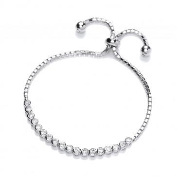 RP Silver Bracelet CZ Rubover Clutch