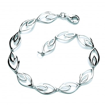 RP Silver Bracelet Open Double Ellipse
