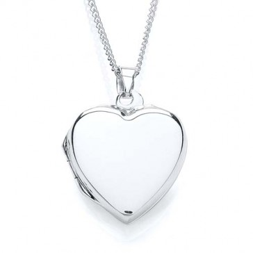 RP Silver Locket Plain Heart