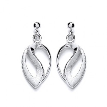 RP Silver Earrings HW Matt/Polish Fancy Drops