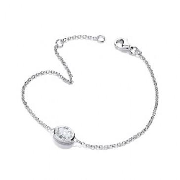 RP Silver Bracelet CZ Oval