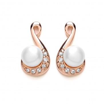 RGP Silver Earrings FF FWP/CZ Fancy Studs
