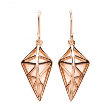 RGP Silver Earrings HW Open Kite Drops