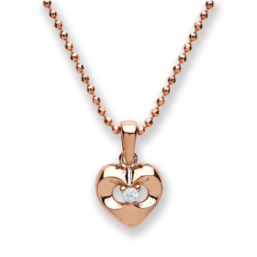 RGP Silver Pendant CZ Heart