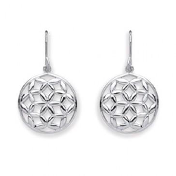 RP Silver Earrings HW Round Flower Drops