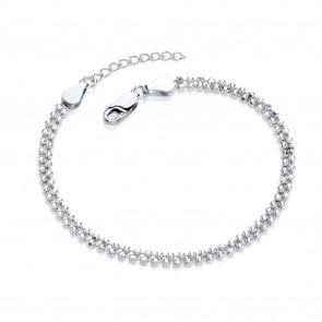 "RP Silver Bracelet Diamond-Cut 2 Row 7""/8"""