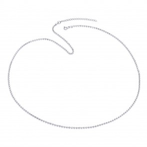 "RP Silver Chain Diamond-Cut Bead 22""/24"""