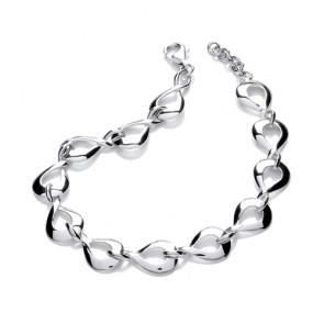 RP Silver Bracelet Open Fancy
