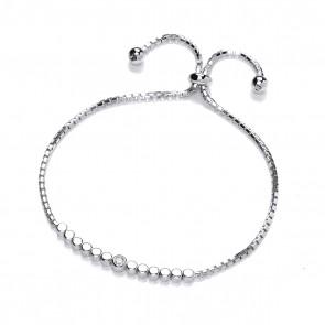 RP Silver Bracelet CZ Solitaire Cluster