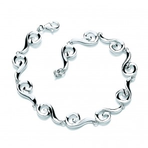 RP Silver Bracelet Swirl 'Kaja Collection'