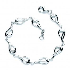 RP Silver Bracelet Open Pear