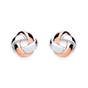 RP/RGP Silver Earrings FF Knot Studs