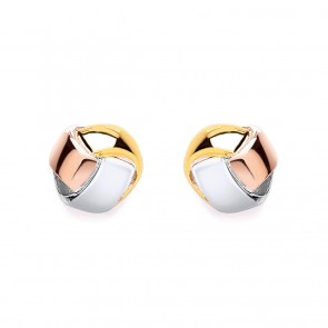 RP/RGP/GP Silver Earrings FF Knot Studs