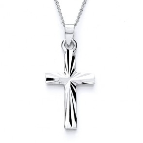 RP Silver Cross Diamond-Cut