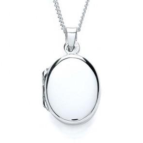 RP Silver Locket Plain Oval