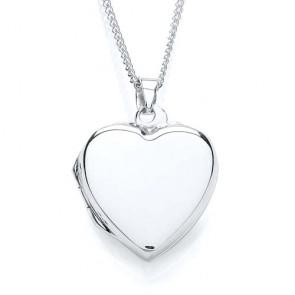 RP Silver Locket Plain Heart