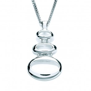 RP Silver Pendant 3 Open Ovals