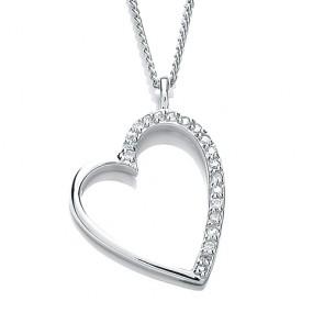 RP Silver Pendant CZ Open Heart