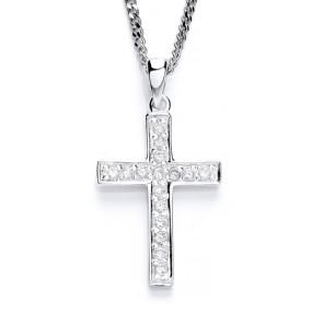 RP Silver Cross CZ Set