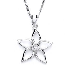 RP Silver Pendant CZ Flower