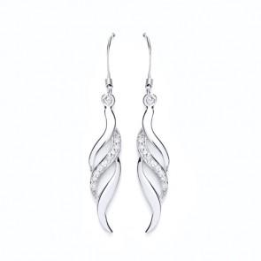 RP Silver Earrings HW CZ Fancy Drops