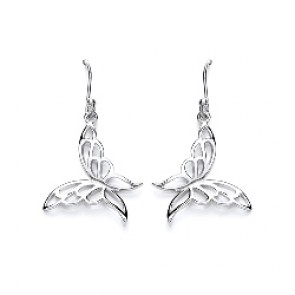 RP Silver Earrings HW Butterfly Drops