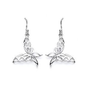 RP Silver Earrings HW Butterfly Drops