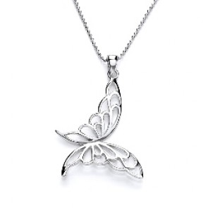 RP Silver Pendant Open Butterfly