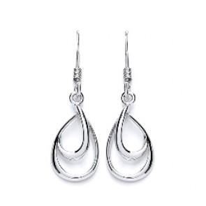 RP Silver Earrings HW Open Pear Drops