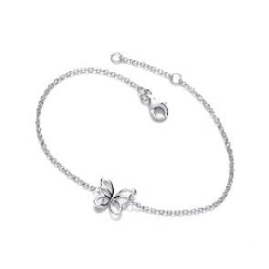 RP Silver Bracelet CZ Butterfly