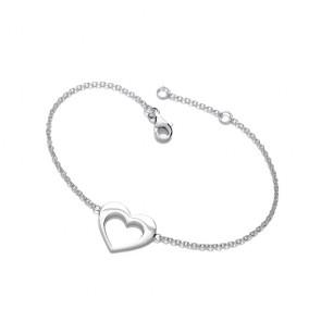 RP Silver Bracelet Open Heart