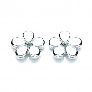 RP Silver Earrings FF Plain Flower Studs