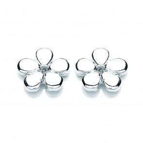 RP Silver Earrings FF Plain Flower Studs