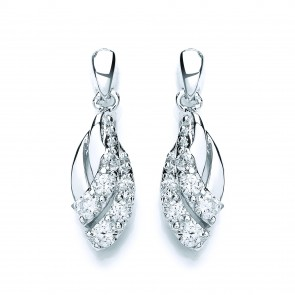 RP Silver Earrings FF CZ Fancy Drops