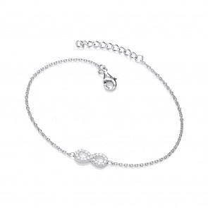 RP Silver Bracelet CZ Infintiy