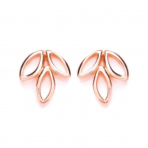 RGP Silver Earrings FF Open Leaf Studs