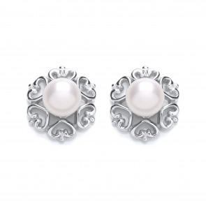 RP Silver Earrings FF FWP Fancy Studs