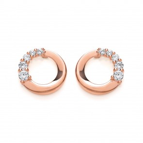 4a8dbf4c4 RGP Silver Earrings FF CZ Open Round Studs