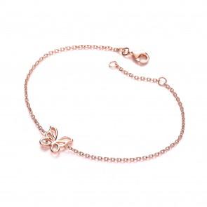 RGP Silver Bracelet CZ Butterfly