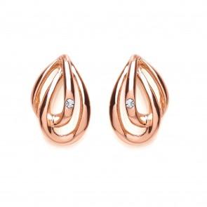 RGP Silver Earrings FF CZ Fancy Studs
