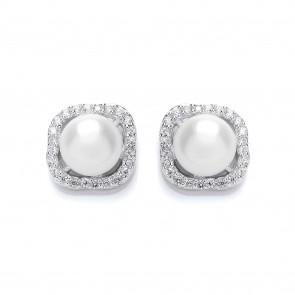 RP Silver Earrings FF FWP/CZ Studs