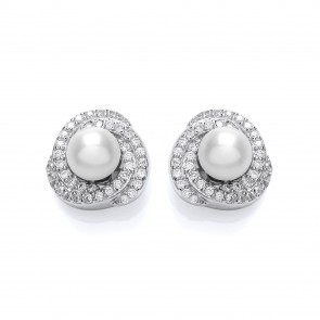 RP Silver Earrings FF FWP/CZ Studs