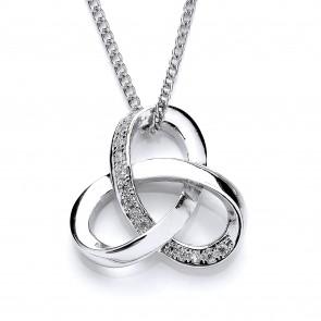 RP Silver Pendant CZ Knot