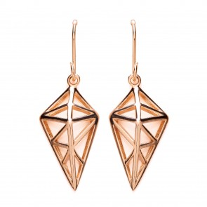 RGP Silver Earrings HW Open Kite Drops