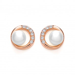 RGP Silver Earrings FF FWP/CZ Round Studs