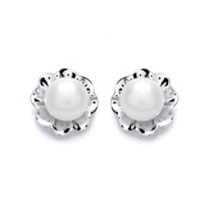 RP Silver Earrings FF FWP Studs