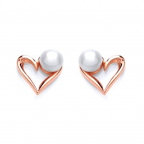 RGP Silver Earrings FF FWP Heart Studs
