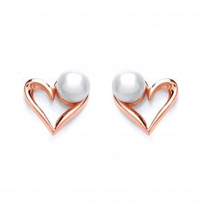 RGP Silver Earrings FF FWP Heart Studs