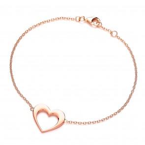 RGP Silver Bracelet Open Heart